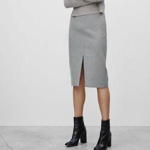 NWT Aritzia Babaton Jax Skirt - Heather Comet